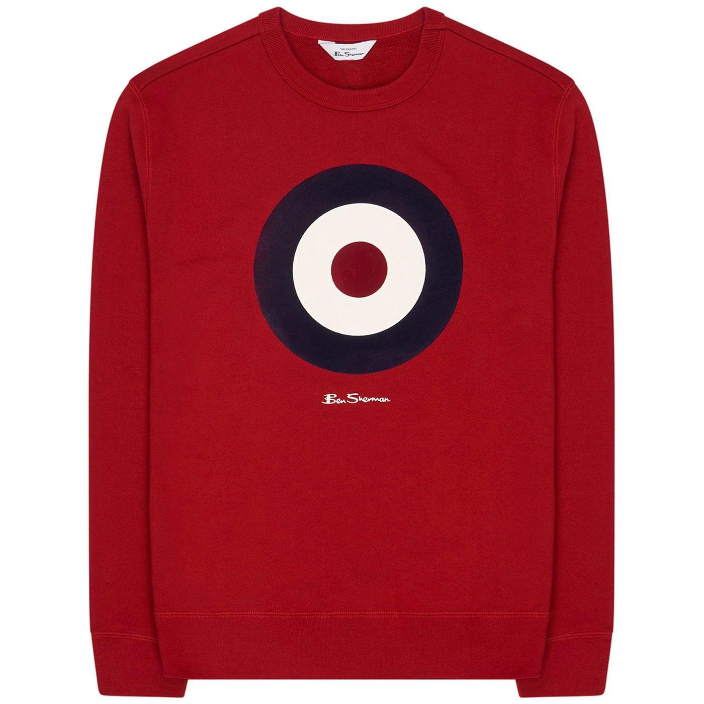 BEN SHERMAN Mod Target Signature Sweatshirt (Red)