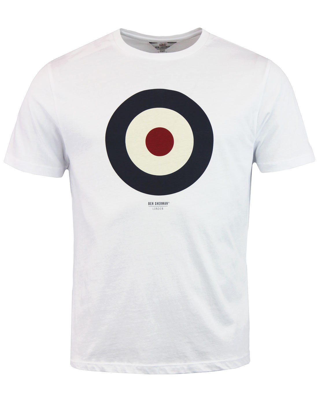 Perceptible gritar gritar  BEN SHERMAN Keith Moon Retro 1960s Mod Target T-Shirt in White