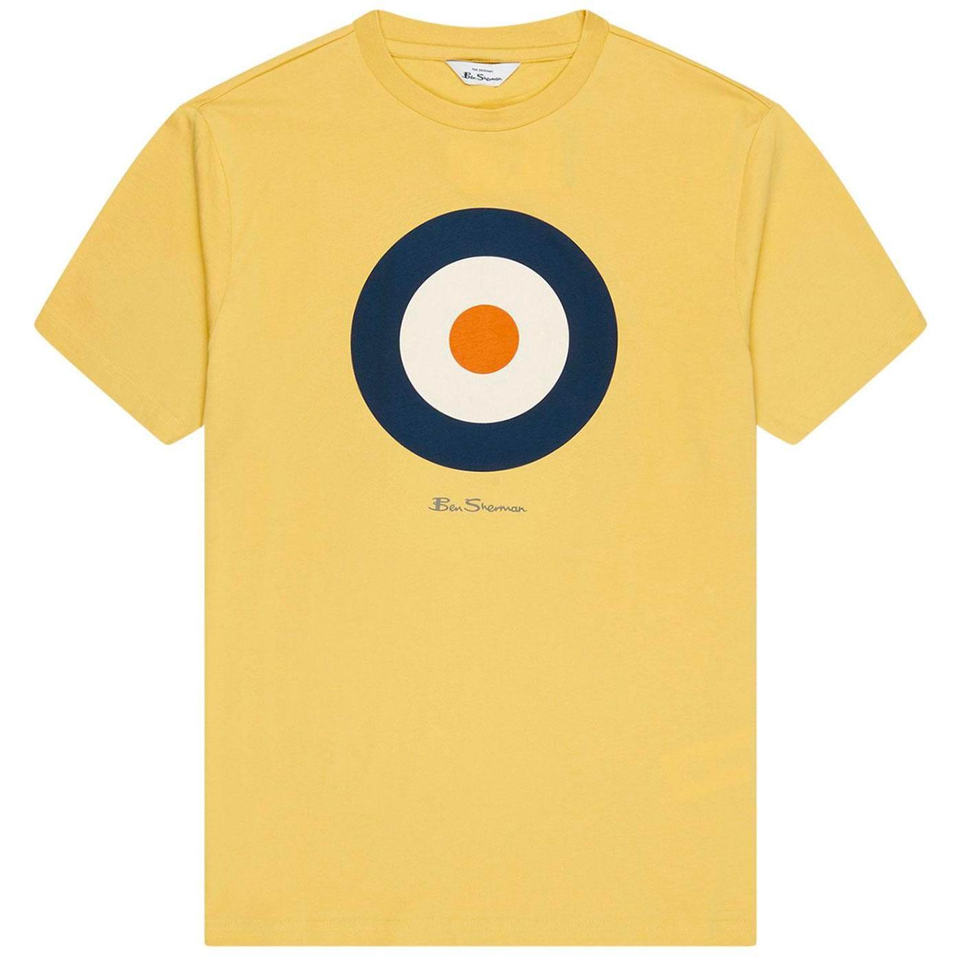 BEN SHERMAN Retro 1960s Mod Target Tee (Yellow)