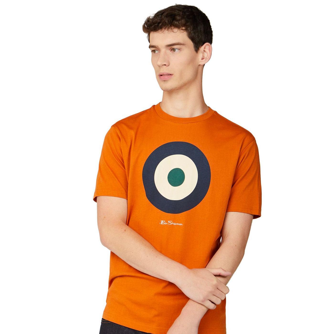 BEN SHERMAN Retro 1960s Mod Target Tee (Orange)