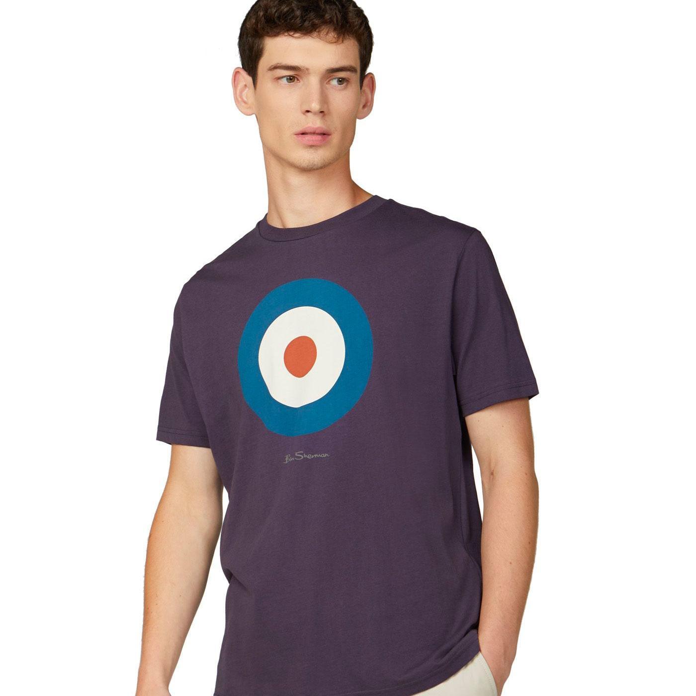 BEN SHERMAN Retro 1960s Mod Target Tee (Purple)