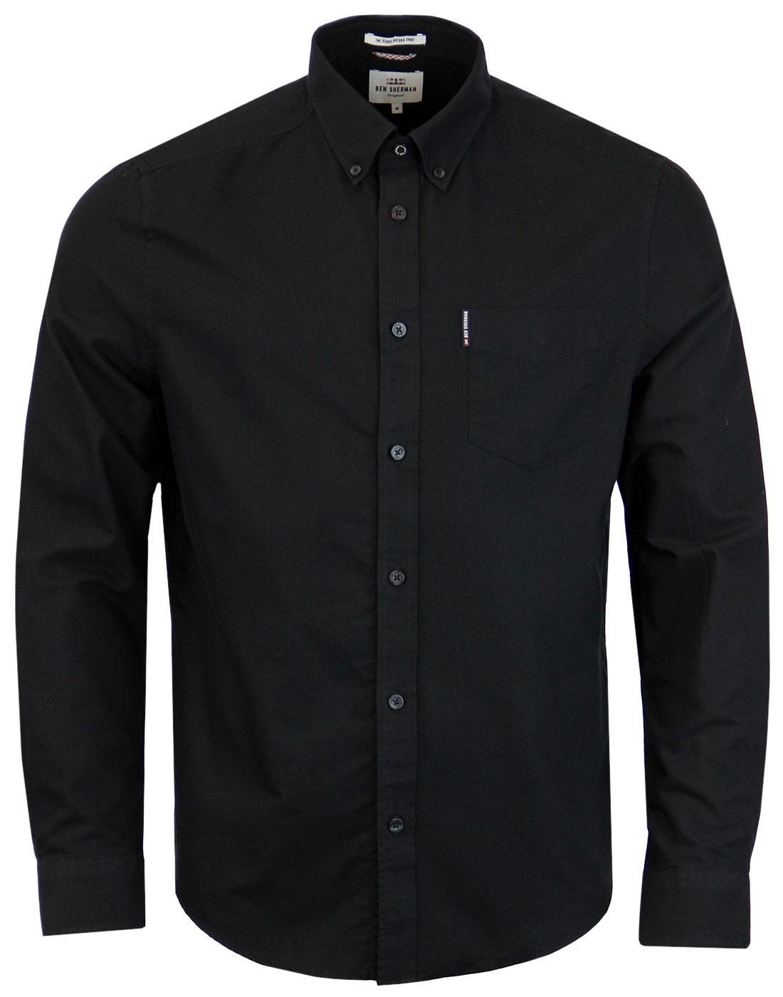 BEN SHERMAN Men's Mod Button Down Oxford Shirt (B)