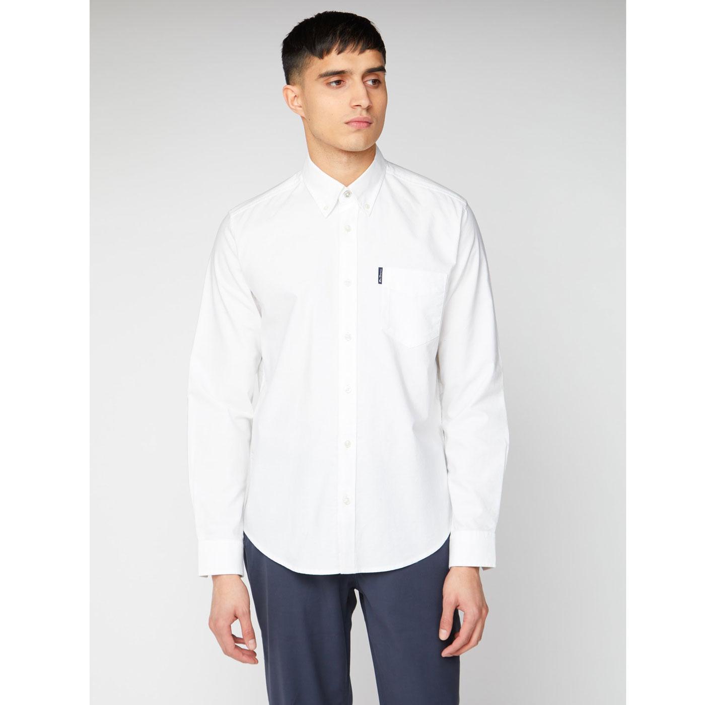 BEN SHERMAN Signature Long Sleeve Oxford Shirt (W)