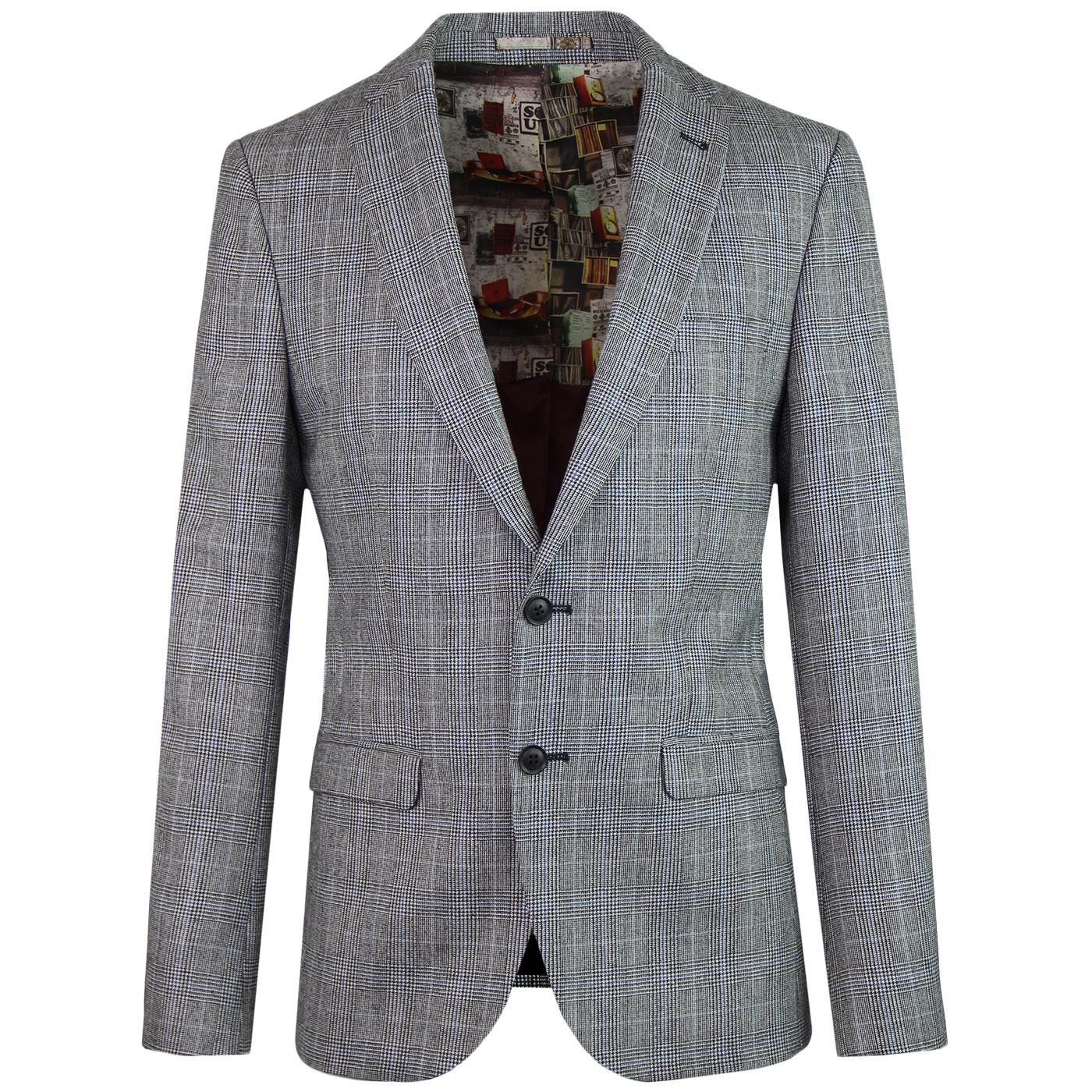 BEN SHERMAN Tailoring Prince of Wales Check Blazer