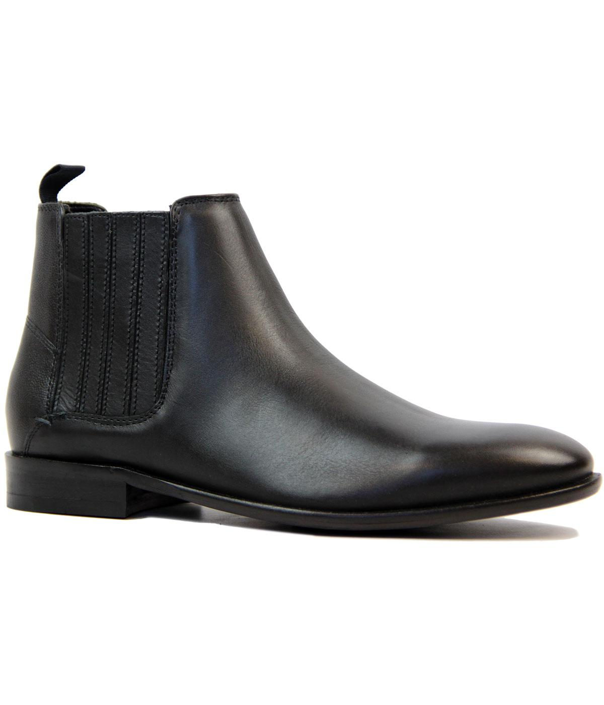 Rame BEN SHERMAN Retro Mod Leather Chelsea Boots