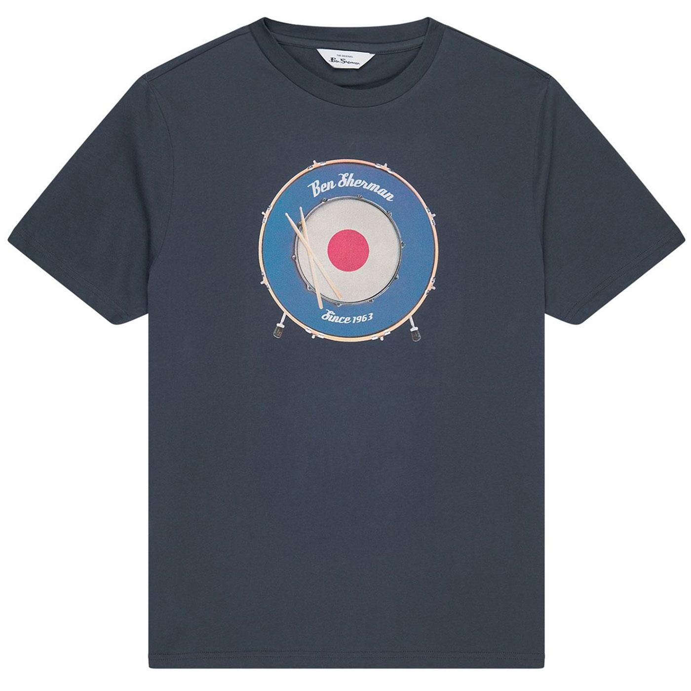 BEN SHERMAN Drum Mod Target Tee (Dark Navy)