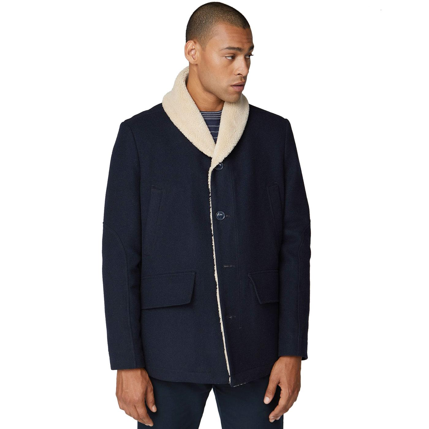 BEN SHERMAN Heavyweight Shawl Collar Sherpa Coat