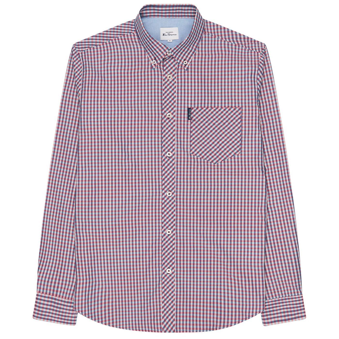 BEN SHERMAN Classic Mod LS Gingham Shirt (Mango)
