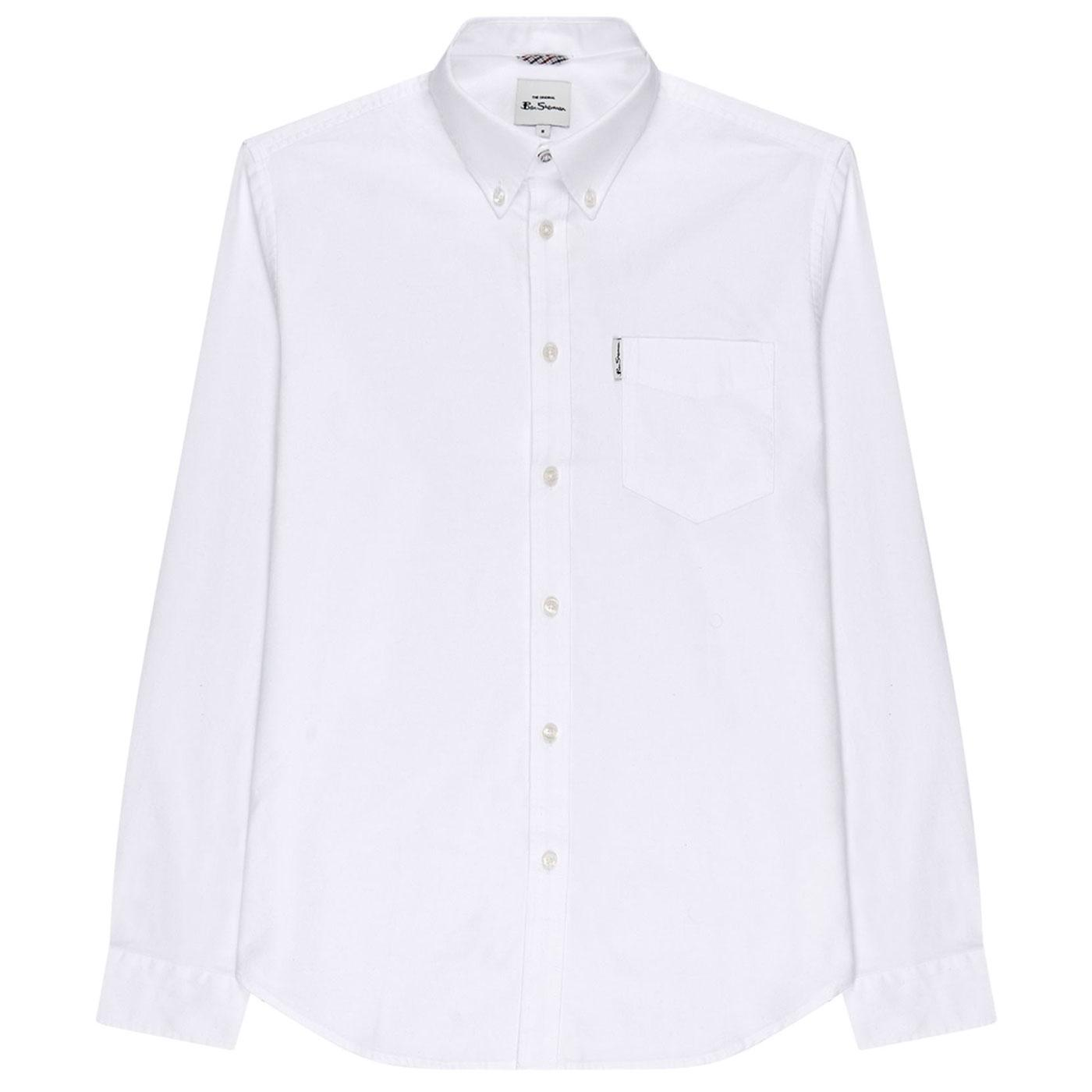 BEN SHERMAN Signature Mod Oxford Shirt in White