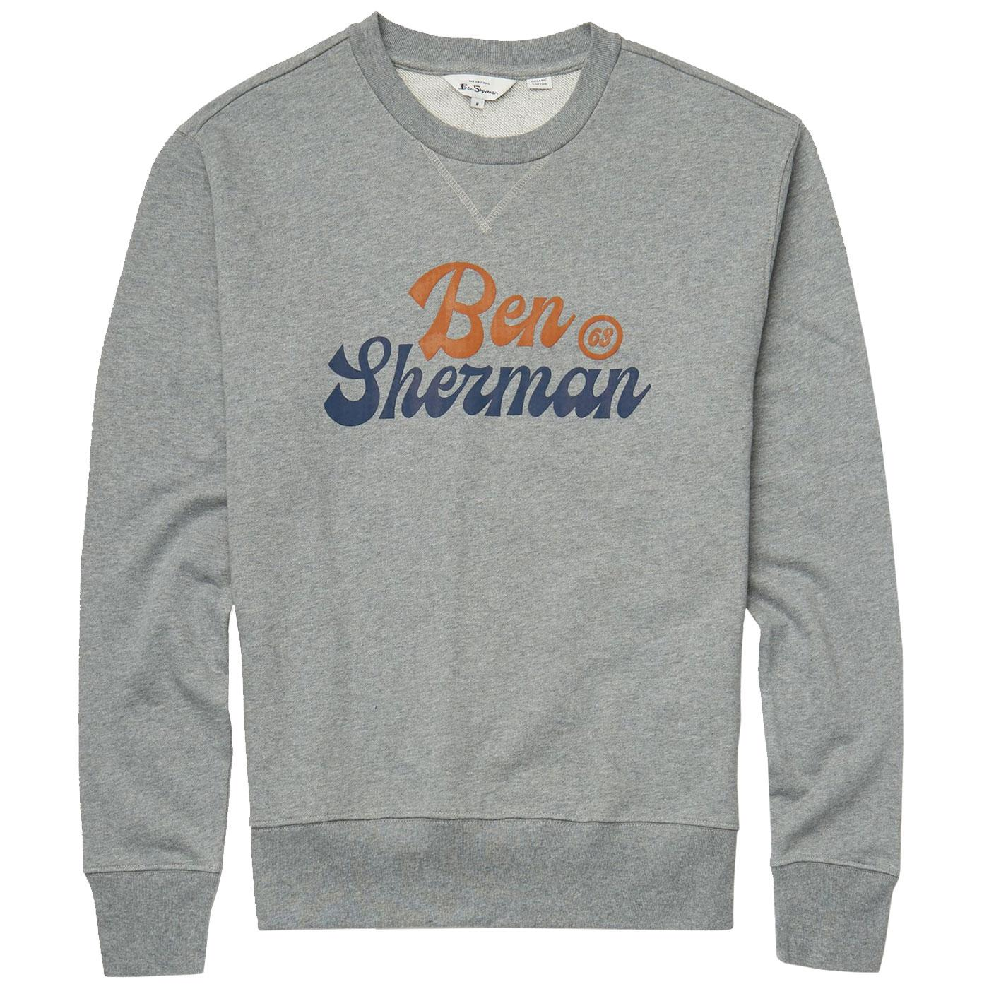 BEN SHERMAN Mens Retro Sport Logo Sweatshirt