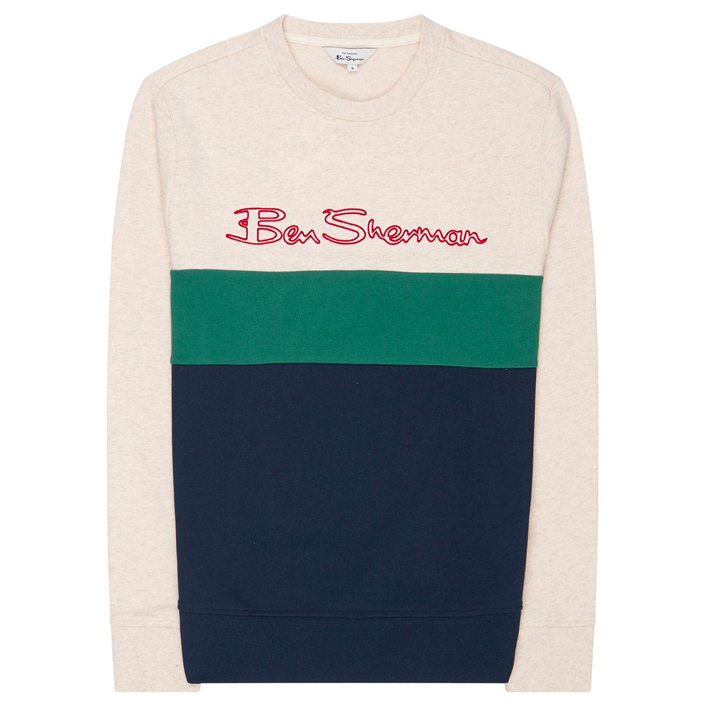 BEN SHERMAN Men's Retro Sports Logo Sweatshirt
