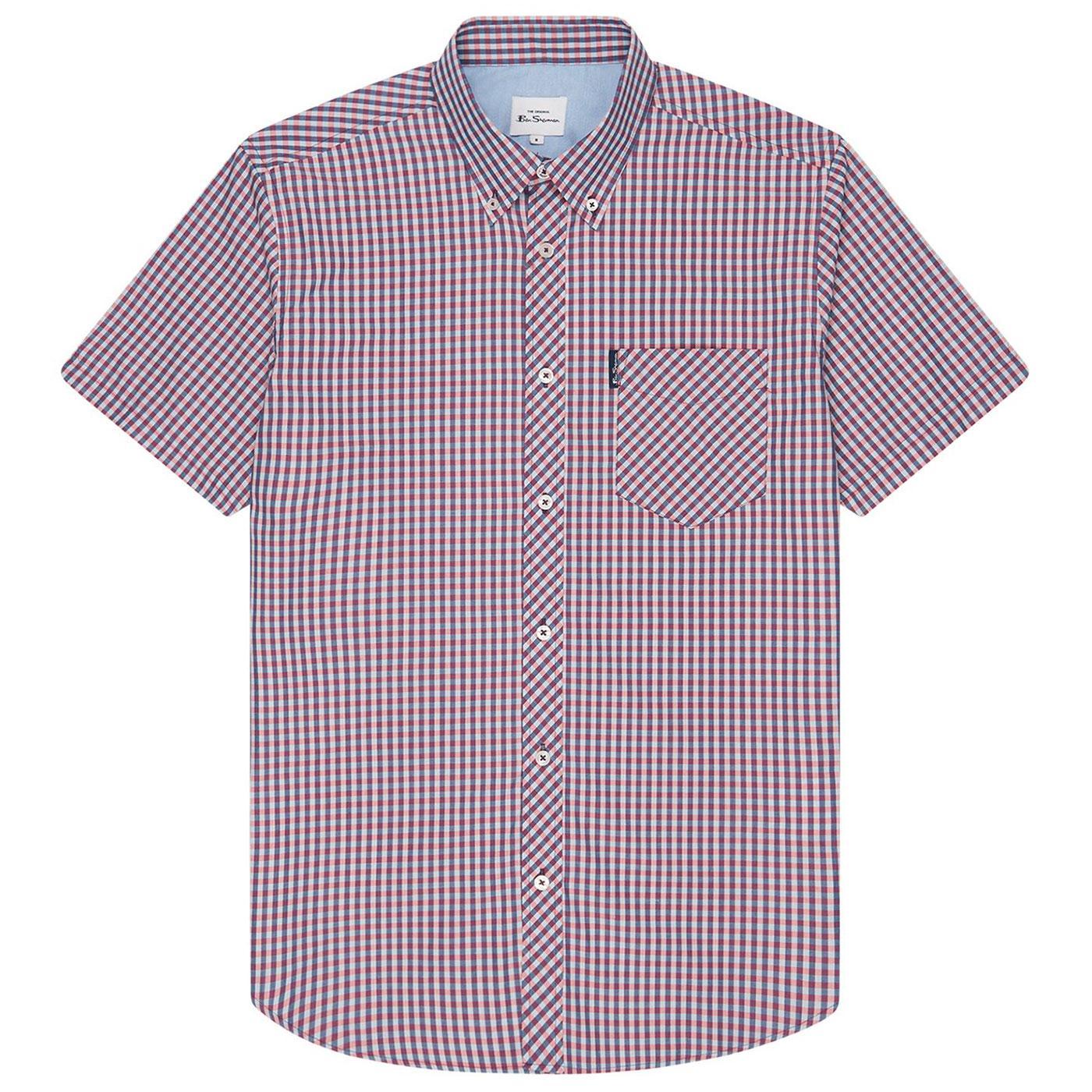BEN SHERMAN Classic Mod SS Gingham Shirt (Mango)