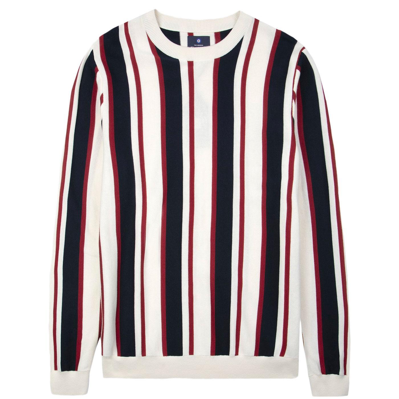 BEN SHERMAN 60s Mod Bold Stripe Knit Crew Jumper