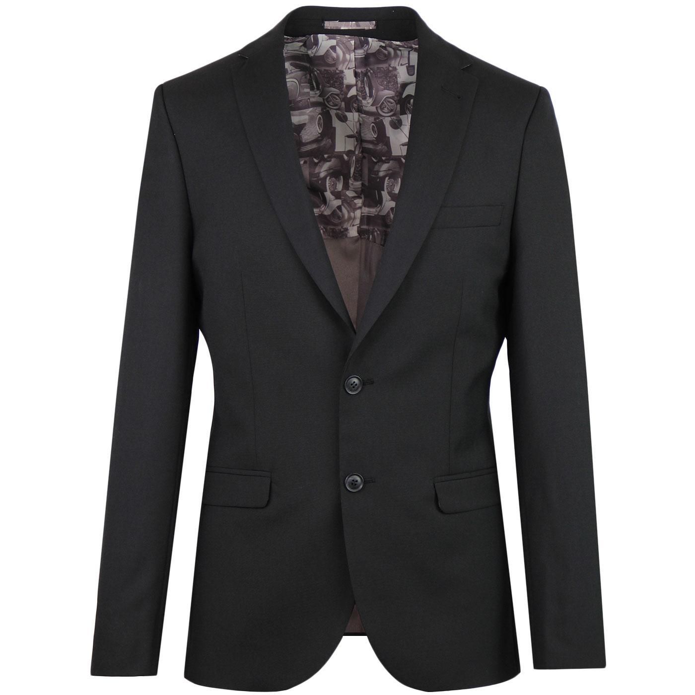 BEN SHERMAN Tailoring Mod Tonic Suit Jacket BLACK