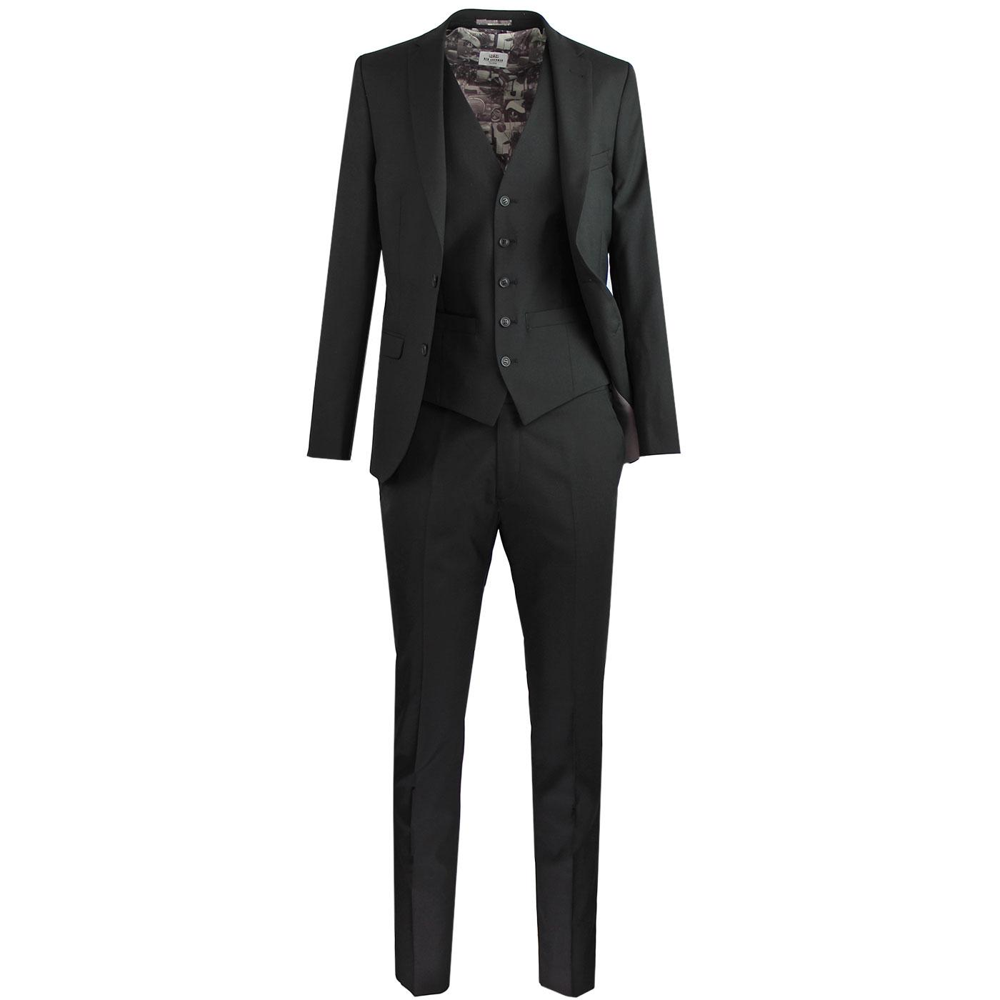 BEN SHERMAN Retro Mod Tonic Scooter Suit in Black