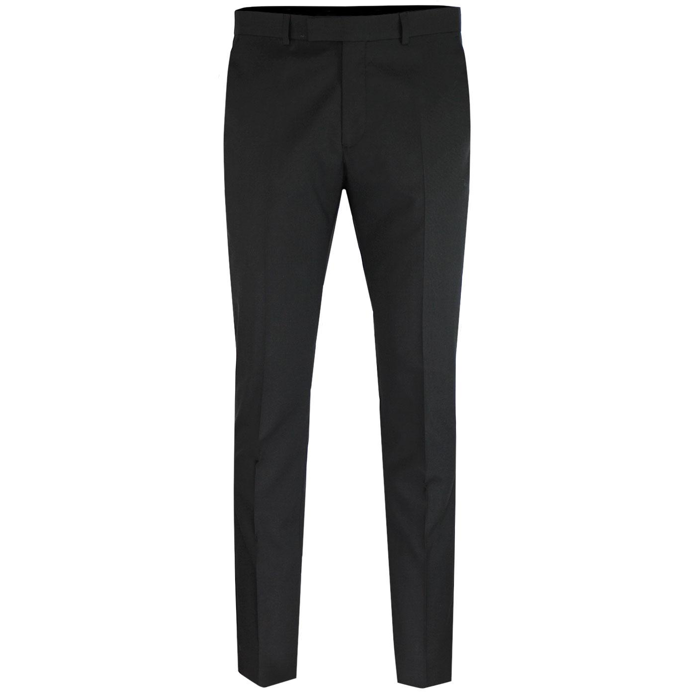 BEN SHERMAN Tailoring Tonic Suit Trousers BLACK