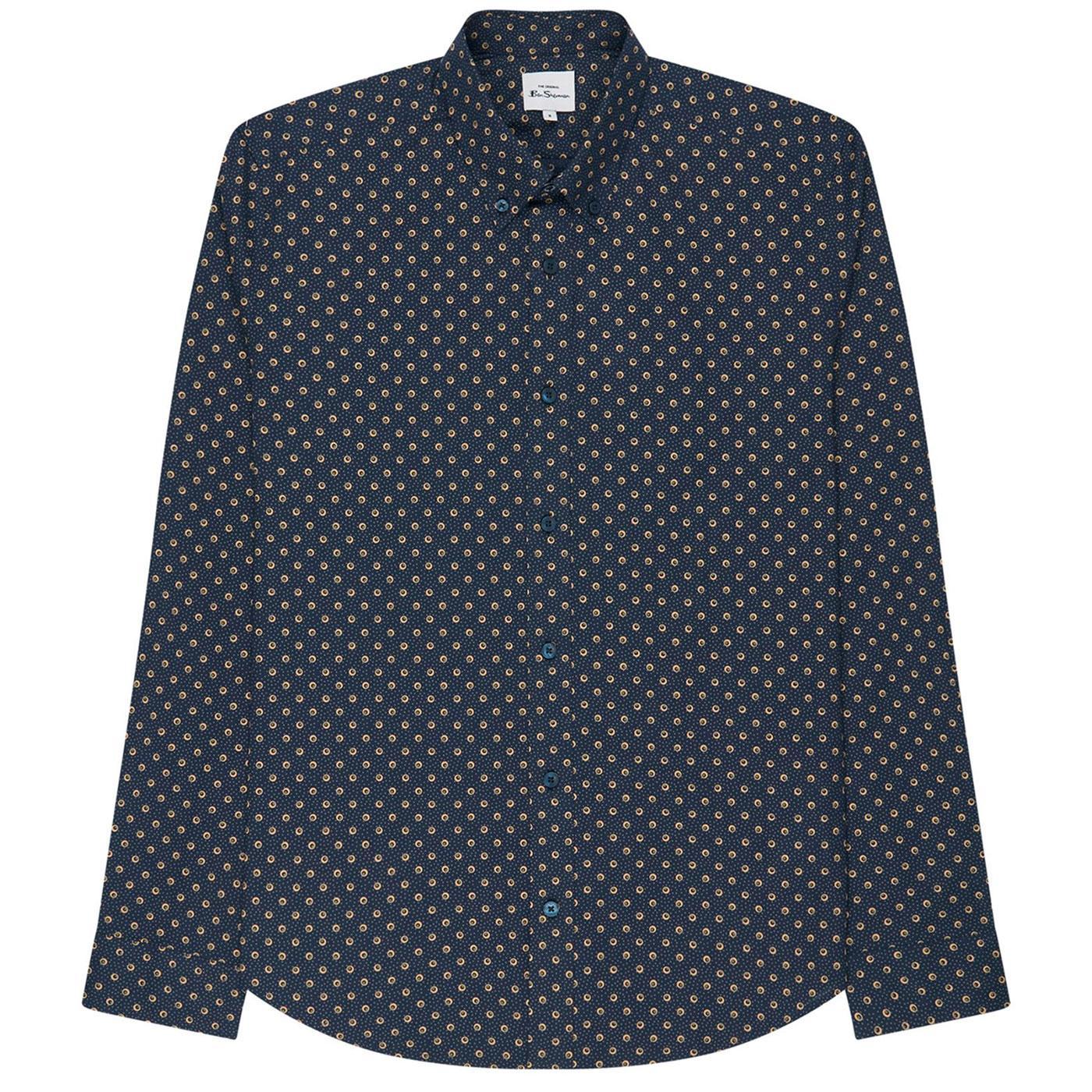 BEN SHERMAN Retro Mod 70s Mini Target Spot Shirt