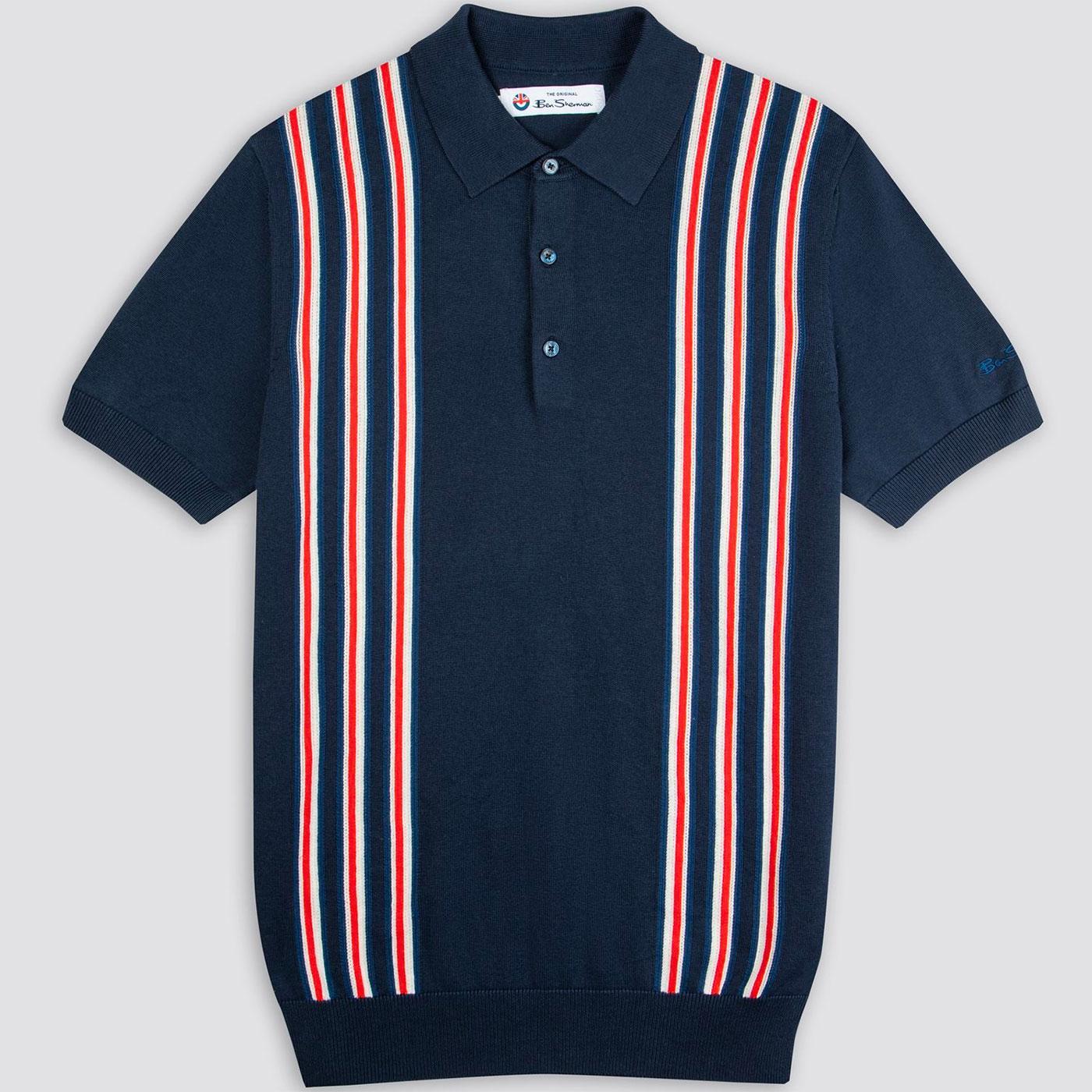 BEN SHERMAN x Team GB Mod Stripe Knit Polo Top