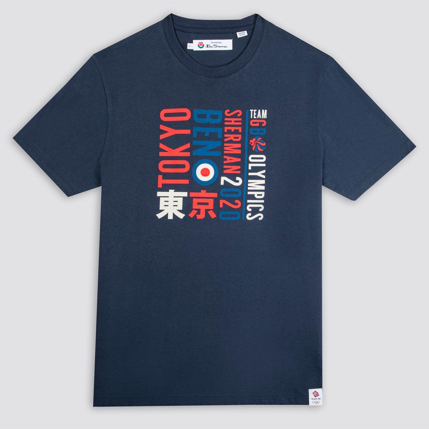 BEN SHERMAN x Team GB Tokyo Type Retro Tee