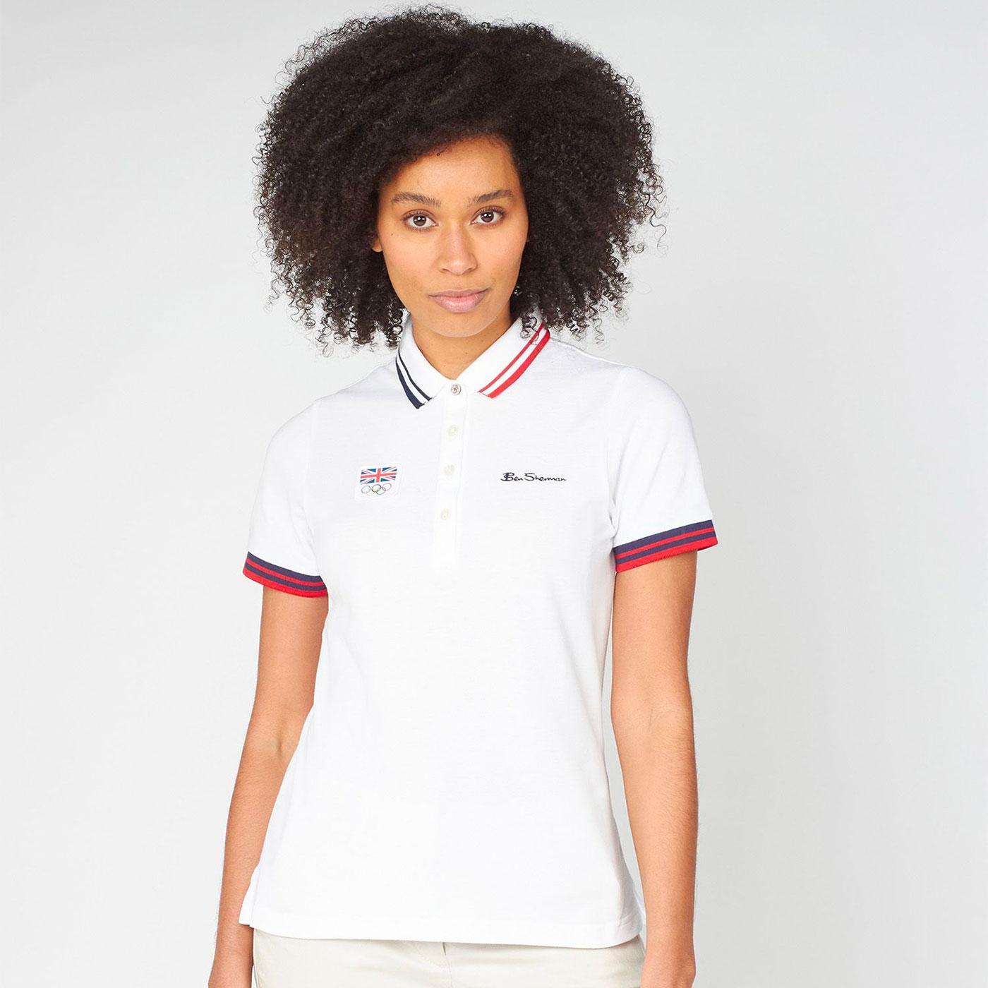BEN SHERMAN Team GB Women's Signature Tipped Polo