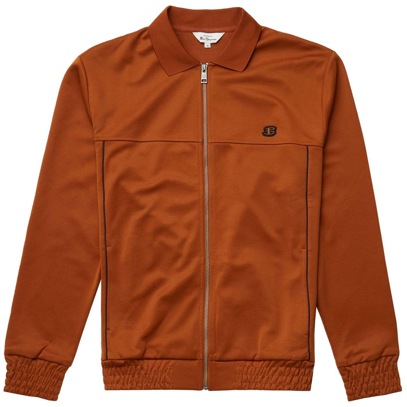 BEN SHERMAN Retro Tricot Polo Collar Track Jacket