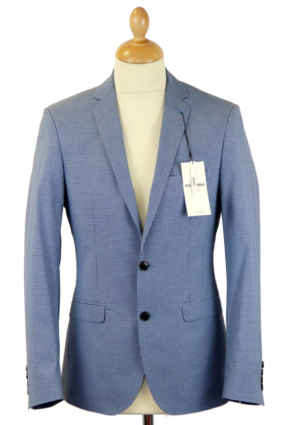 BEN SHERMAN Tailoring Mod Micro Check Notch Blazer
