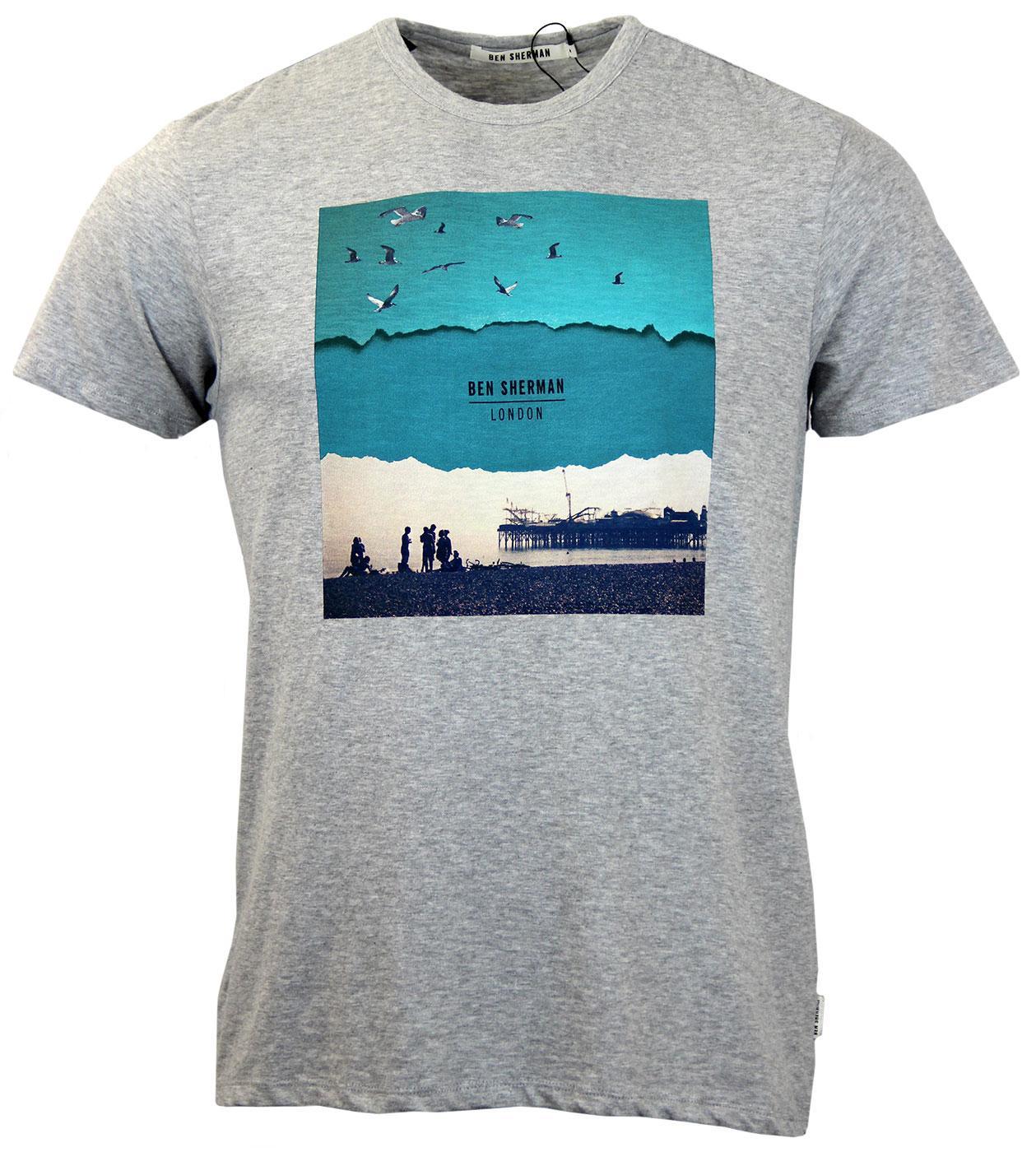 ben sherman brighton beach retro mod graphic print t shirt
