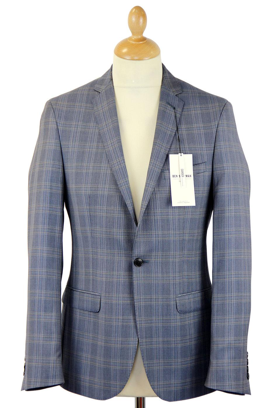 BEN SHERMAN Prince of Wales Check Suit (N.Blue)