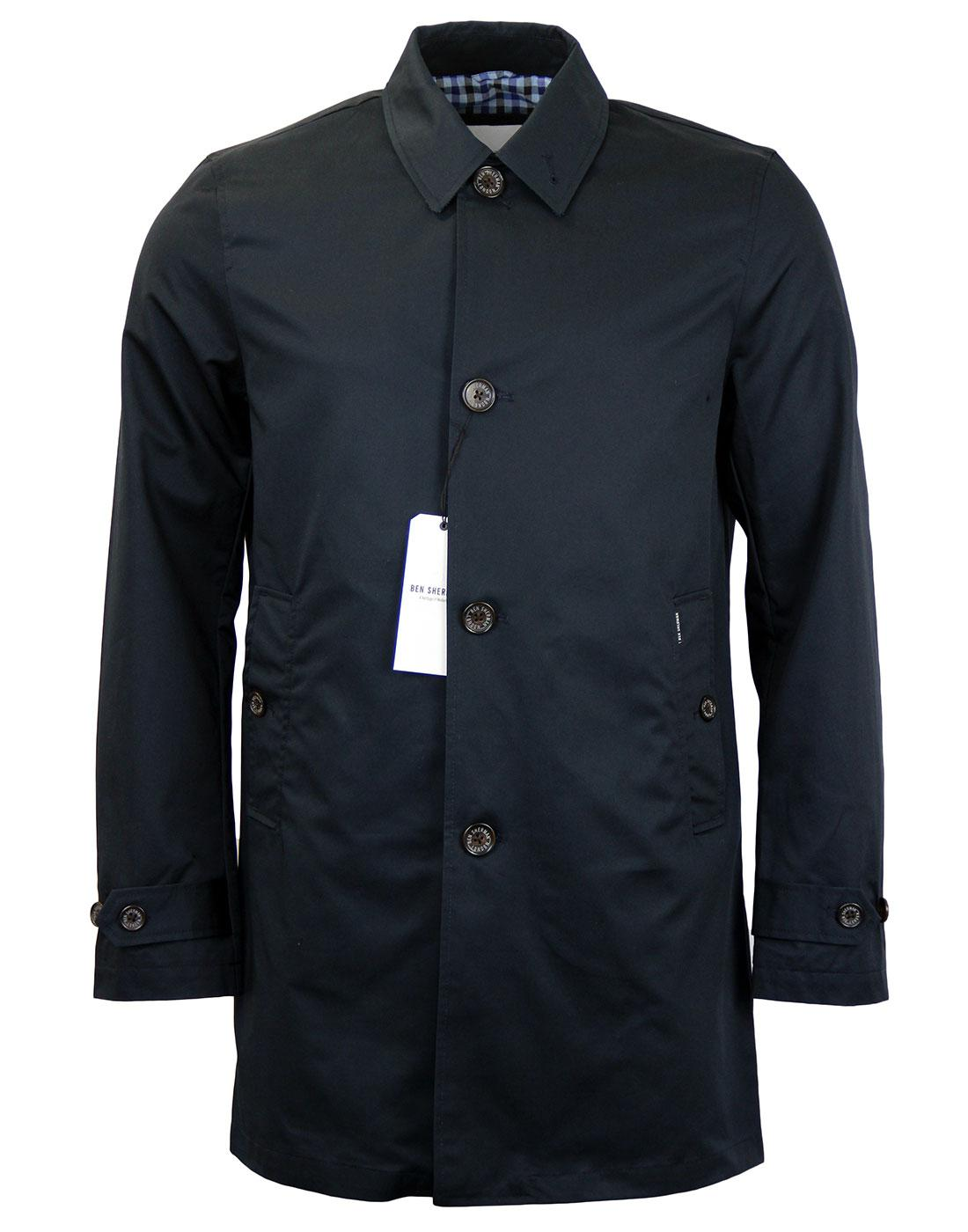 BEN SHERMAN Retro Mod Cotton Twill Mac Jacket
