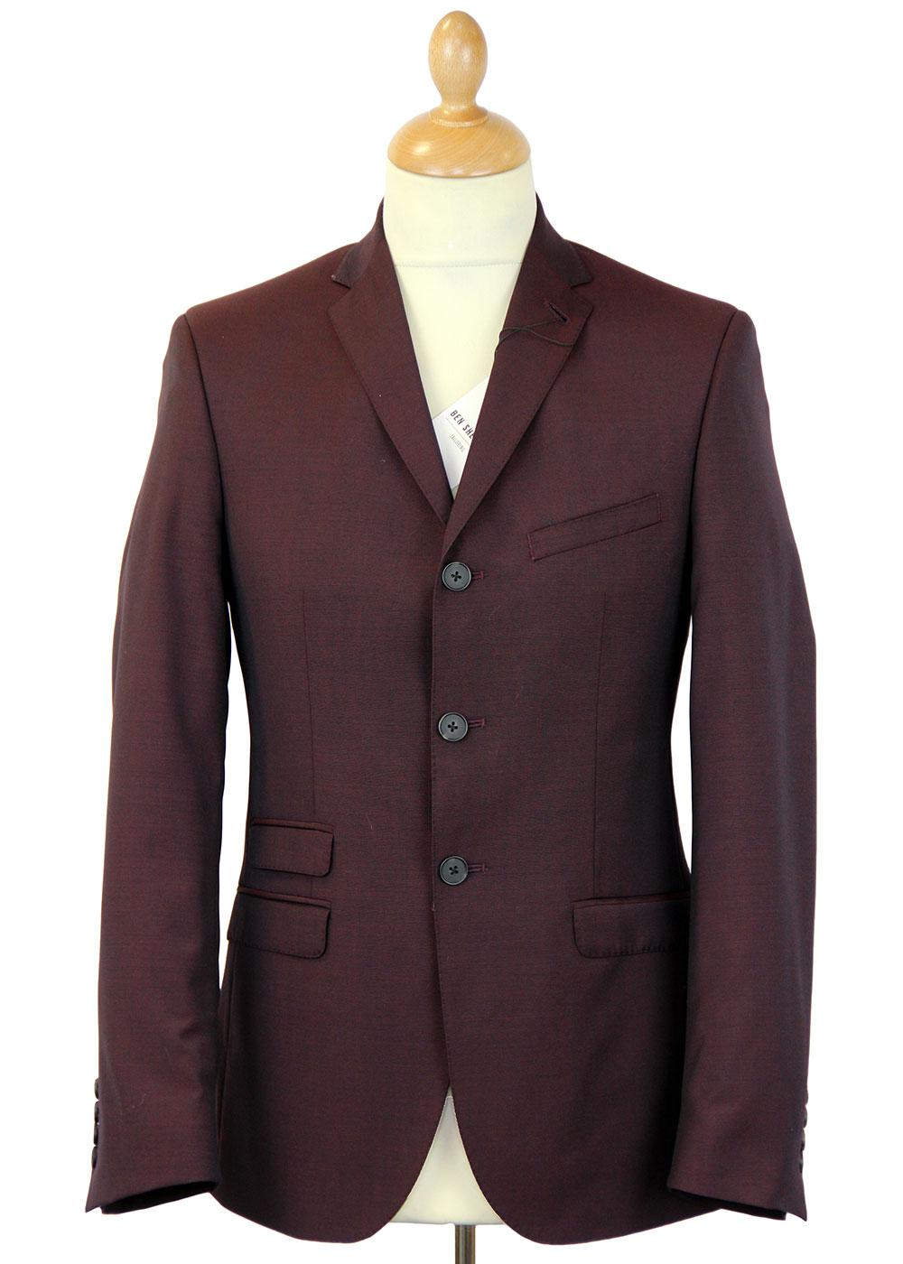 BEN SHERMAN 60s Mod 3 Button Tonic Suit Jacket O
