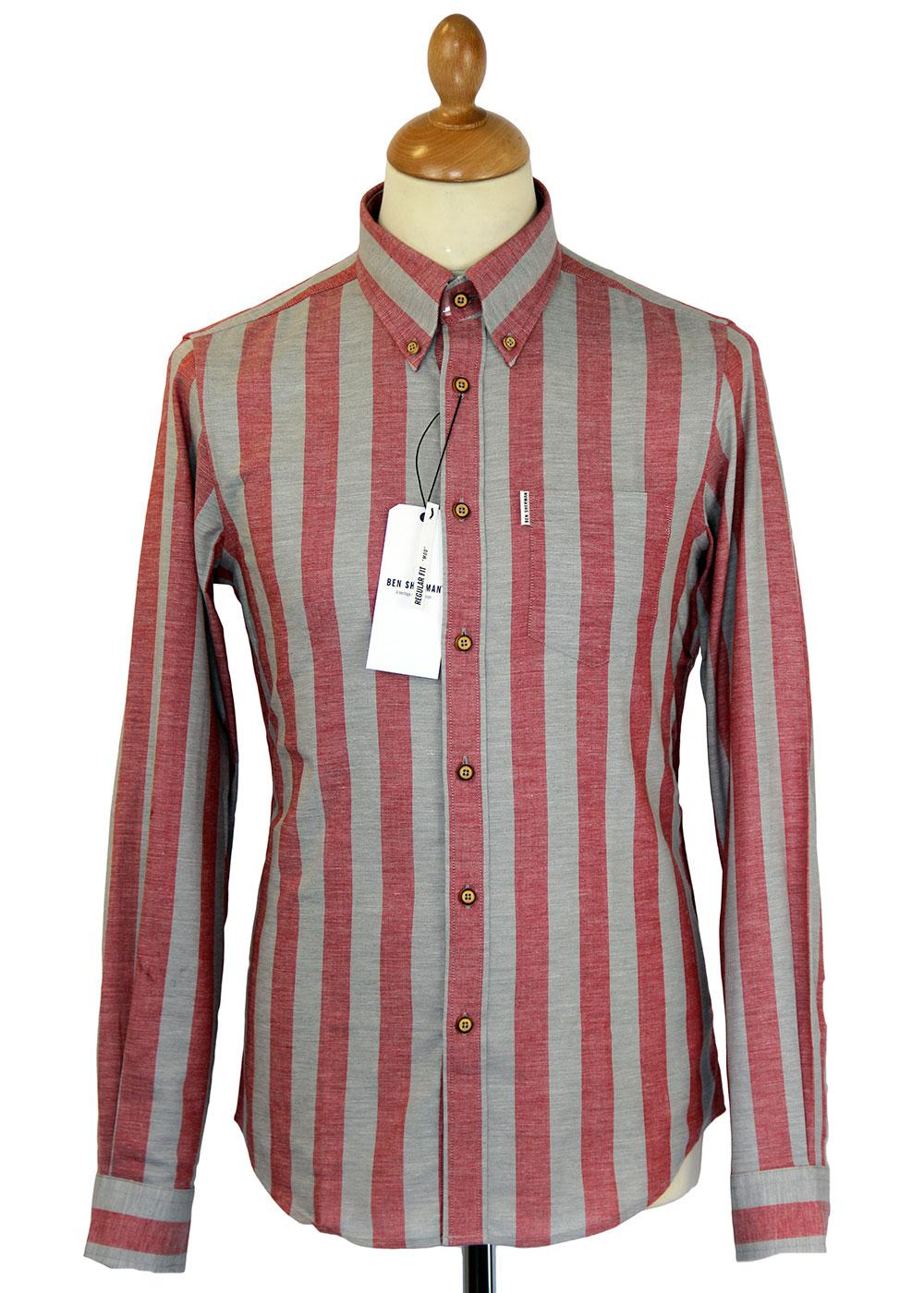 Ben Sherman Mod Roller Stripe Button Down Shirt F