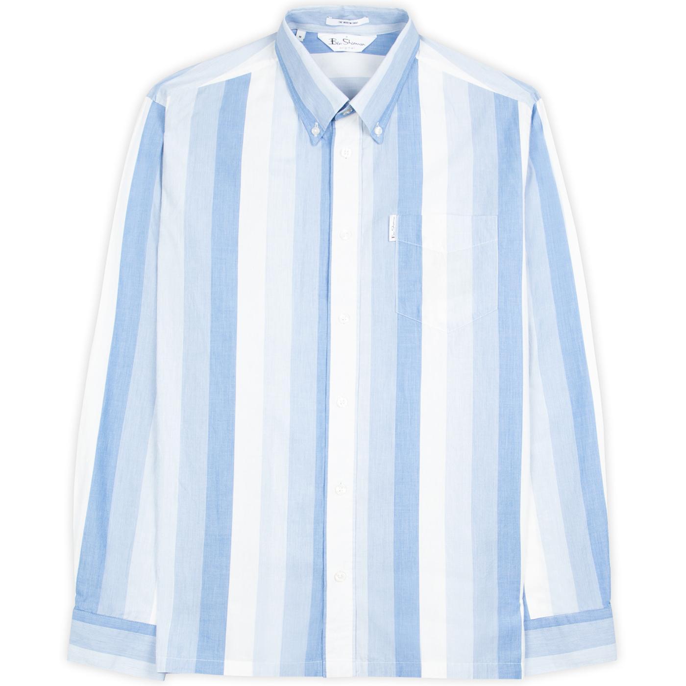 BEN SHERMAN Martin 70s Archive Mod Stripe Shirt
