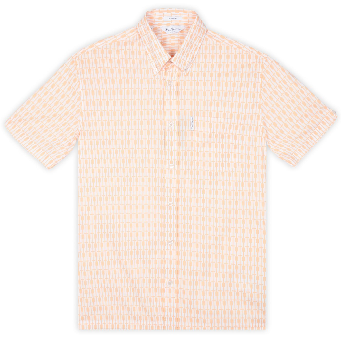 BEN SHERMAN Archive 90s Piper Mod S/S Shirt PEACH