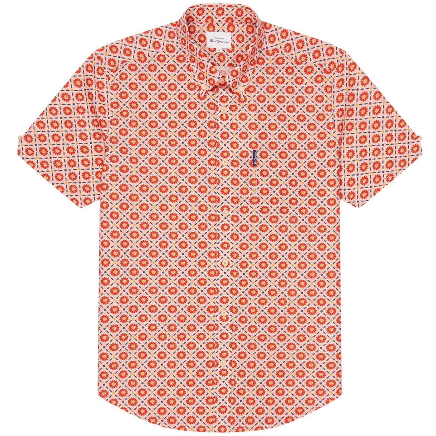 BEN SHERMAN 60s Mod Block Floral SS Shirt (MF)