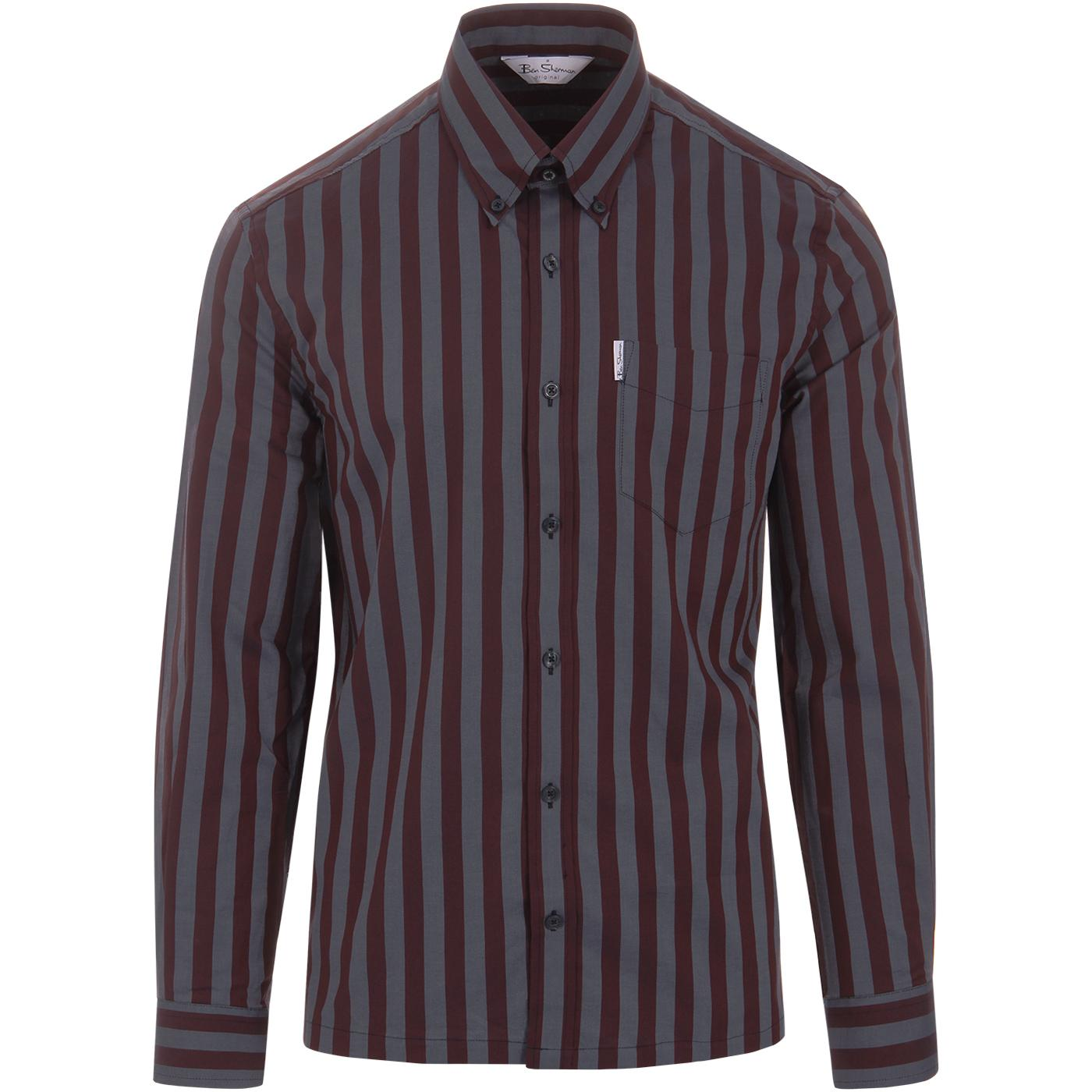 BEN SHERMAN Archive Candy Stripe Oxford Shirt C