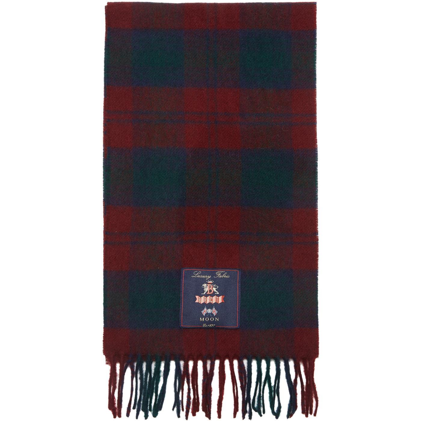 BARACUTA Made in England Mod Check Wool Scarf N/R