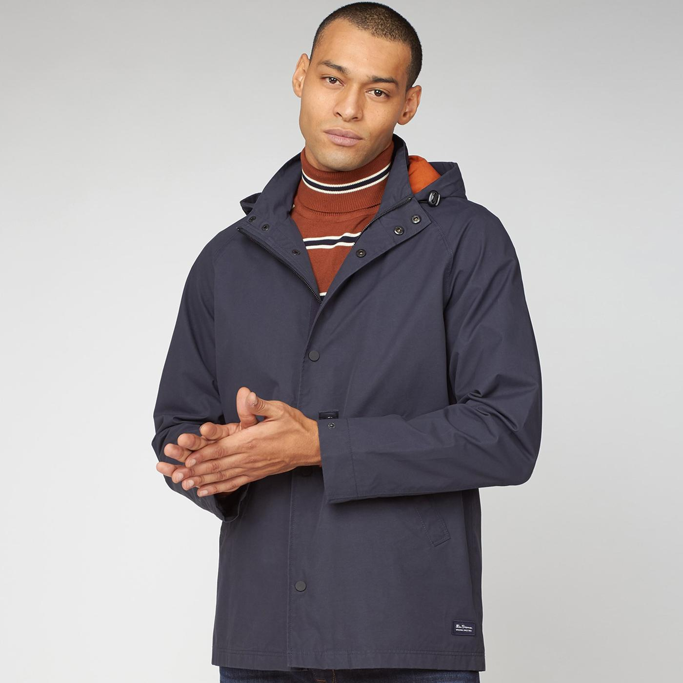 BEN SHERMAN Retro Hooded Coach Jacket (Midnight)