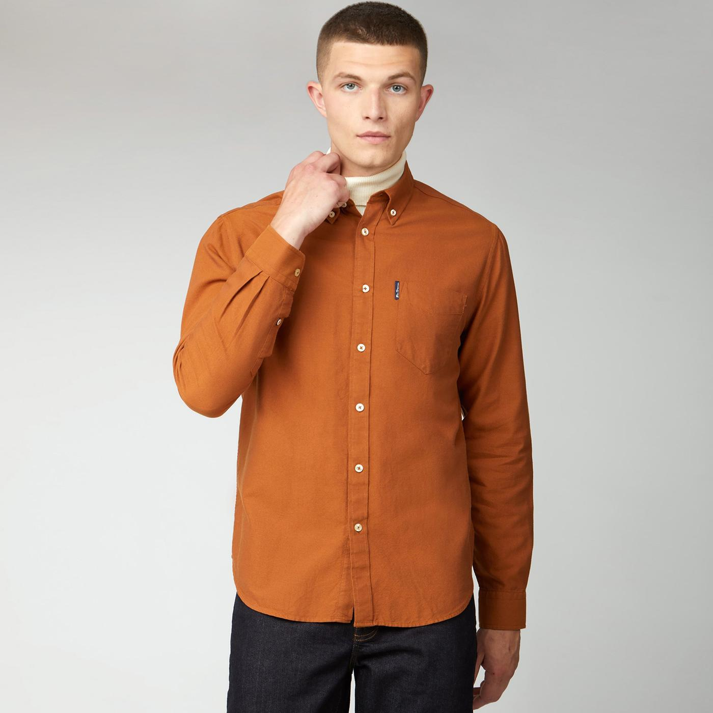 BEN SHERMAN Mod Button Down Oxford Shirt (Gold)