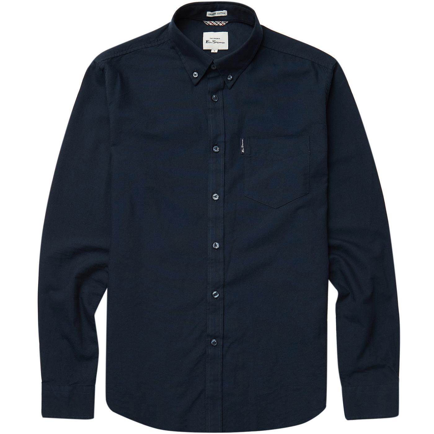 BEN SHERMAN Mod Organic Cotton Oxford shirt (Navy)