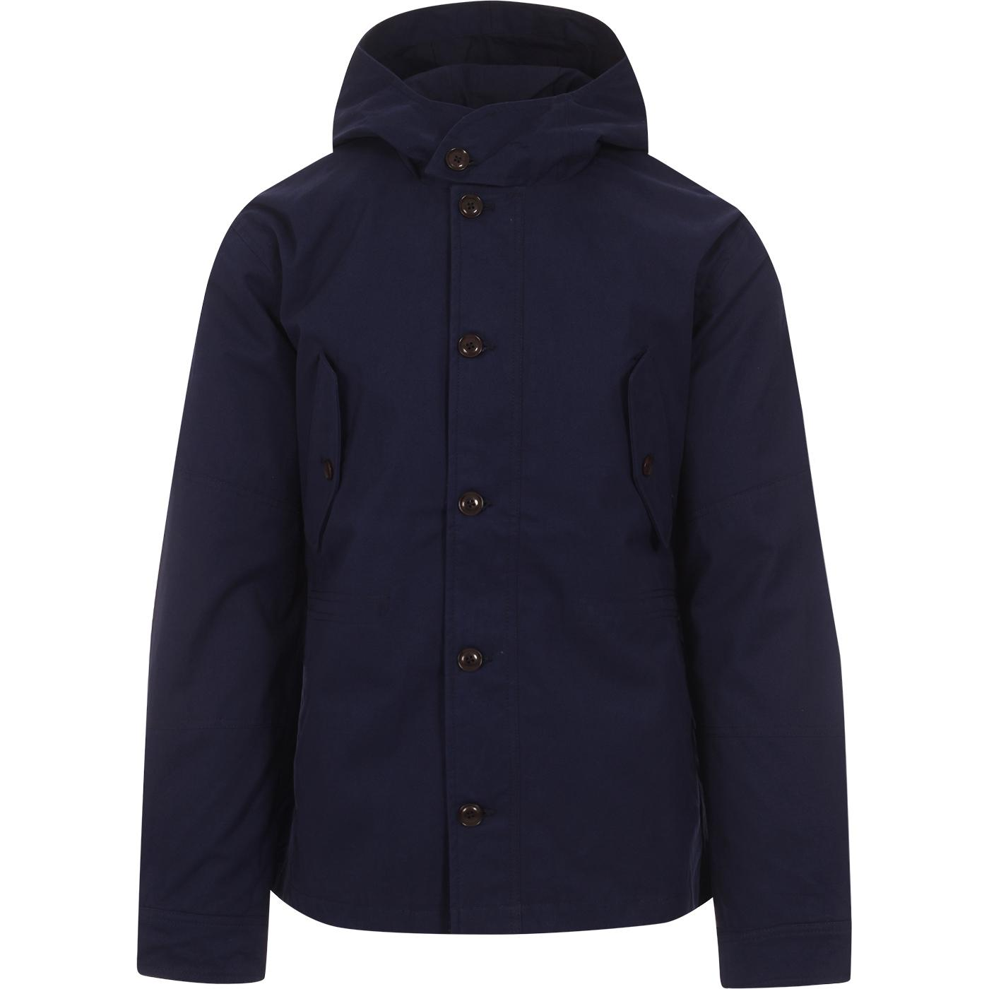 BEN SHERMAN Retro Mod Hooded Workwear Jacket