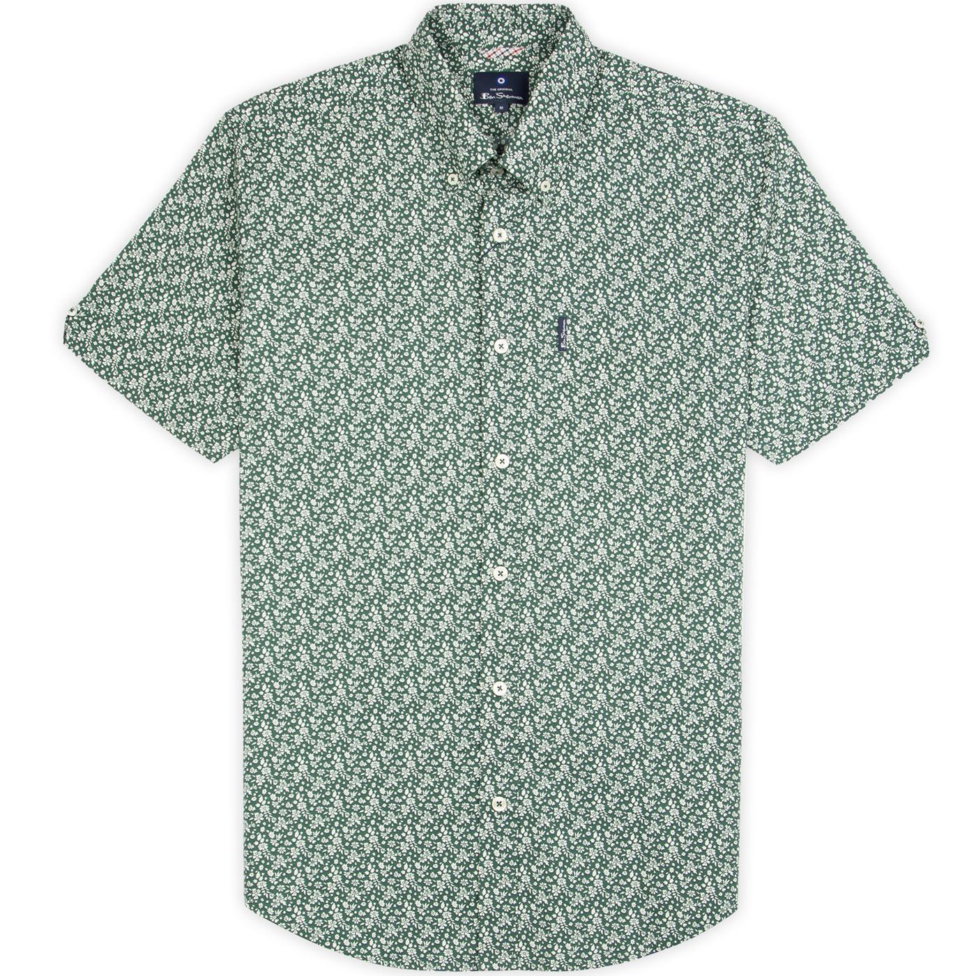 BEN SHERMAN 60s Mod Ditsy Floral Print Shirt (TG)