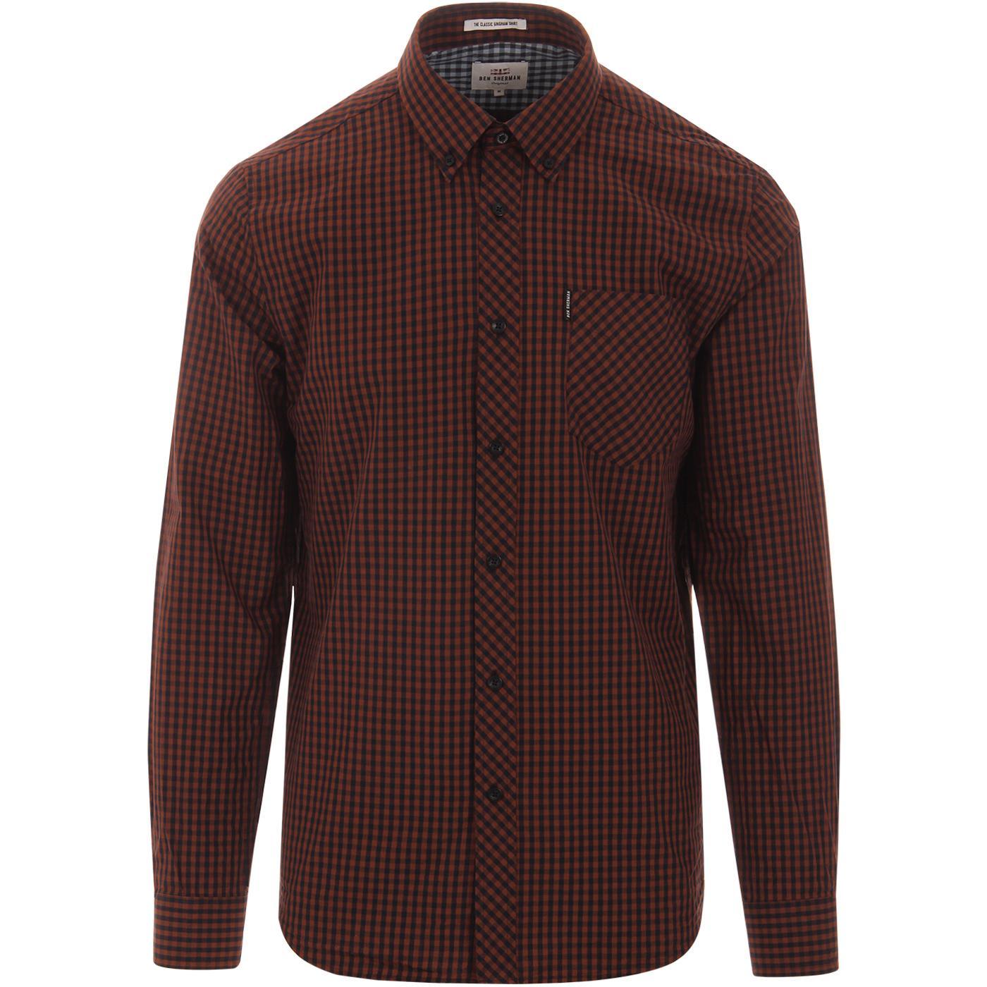 BEN SHERMAN Classic Mod Gingham Check Shirt (Br)