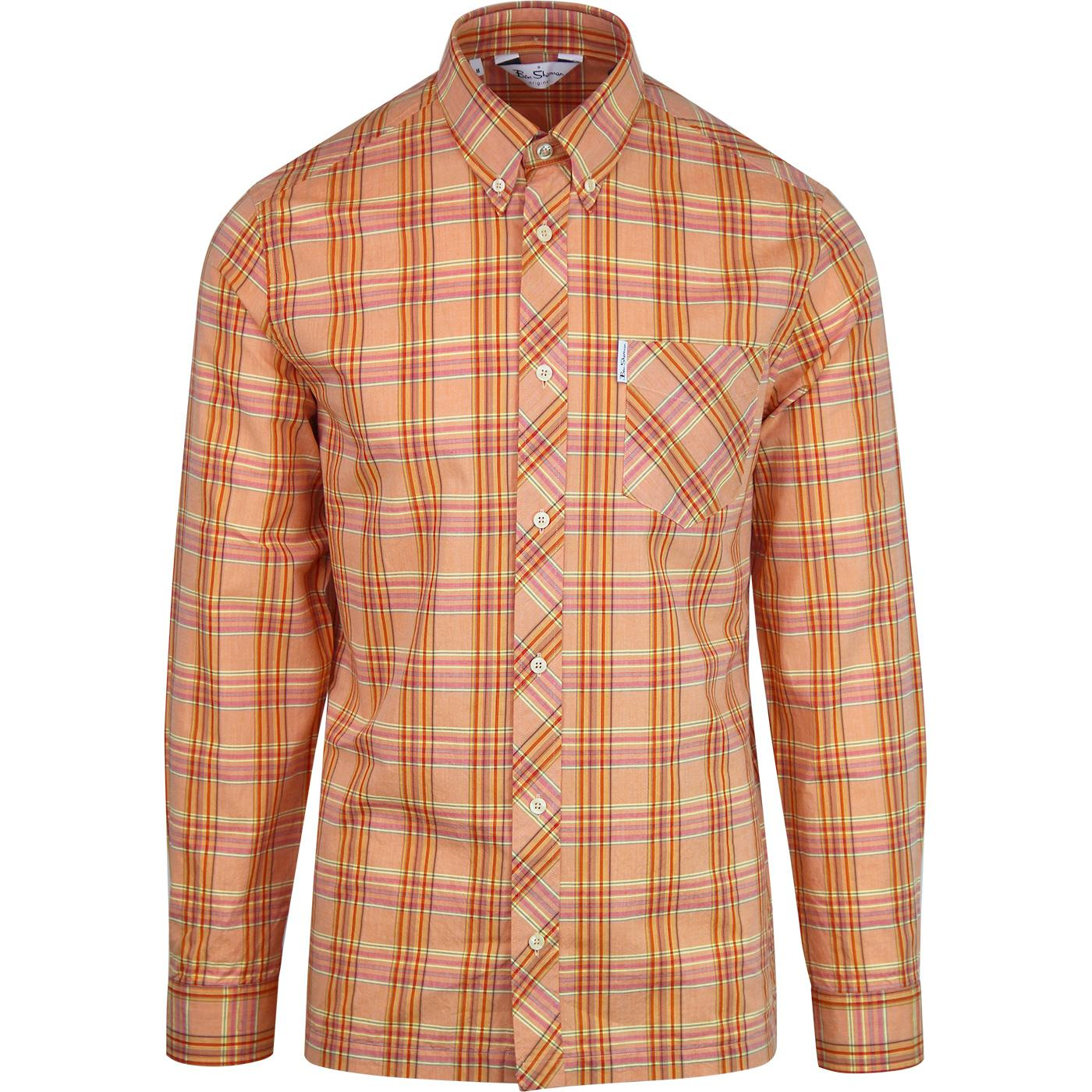 BEN SHERMAN Archive Harvard Mod Madras Check Shirt
