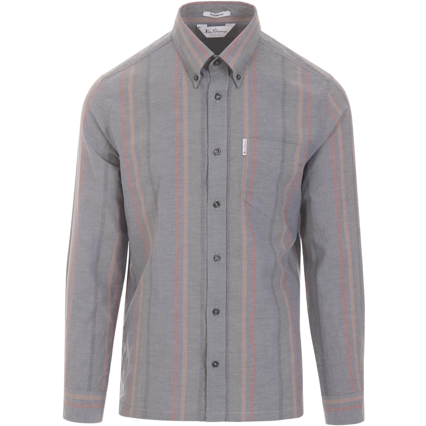 BEN SHERMAN Archive Heritage Stripe Oxford Shirt