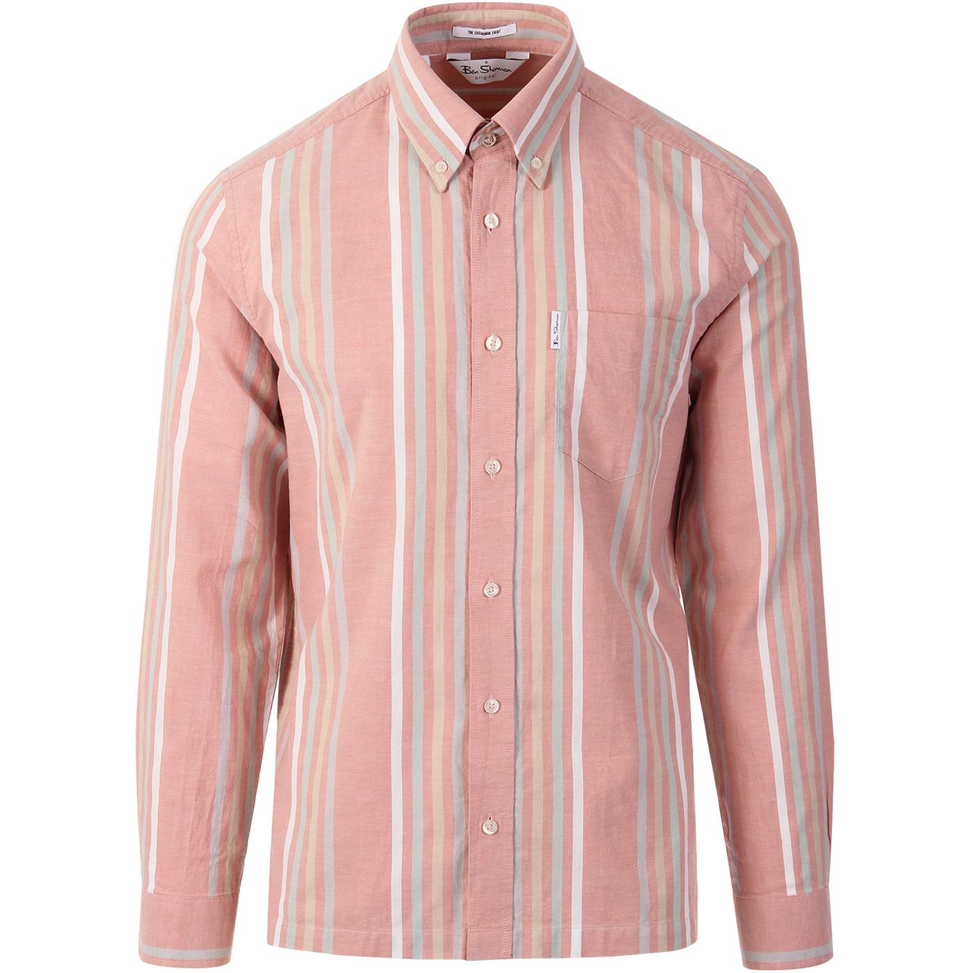 BEN SHERMAN Archive Heritage Stripe Oxford Shirt P