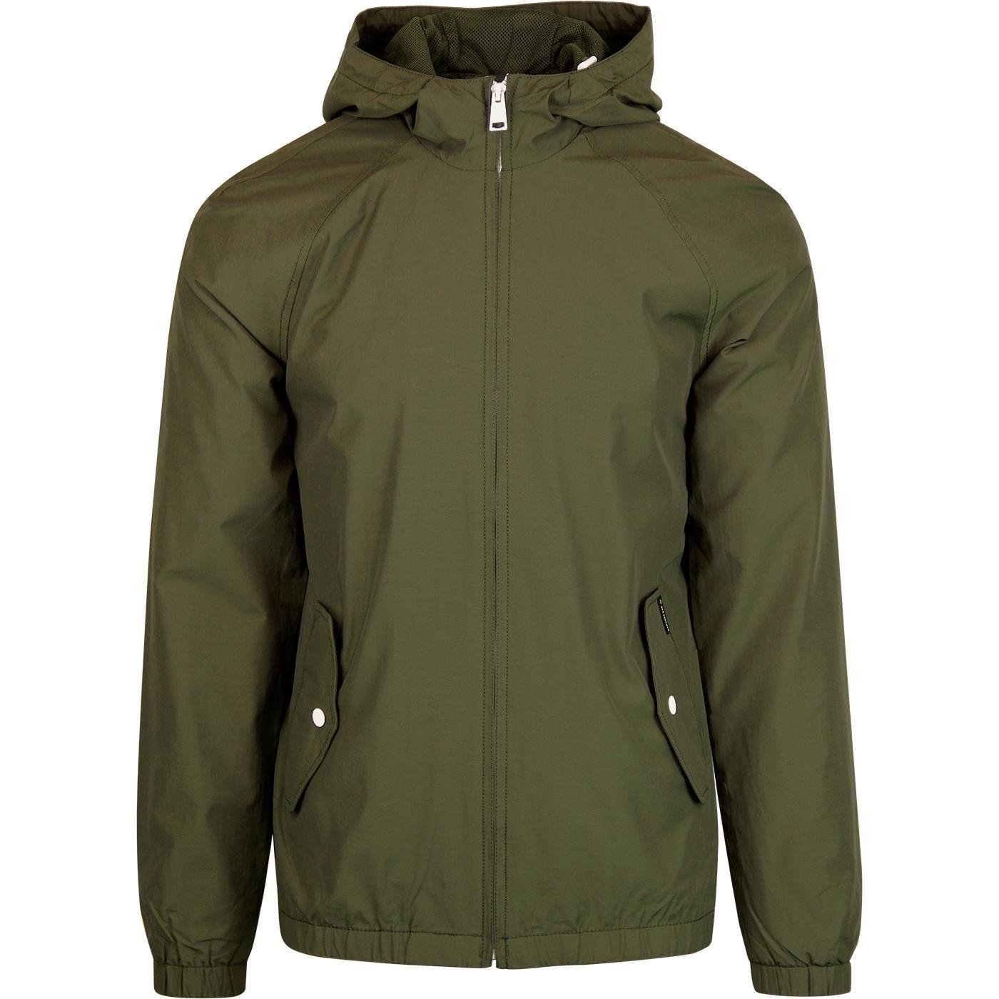 BEN SHERMAN Retro Mod Casual Hooded Jacket (Khaki)