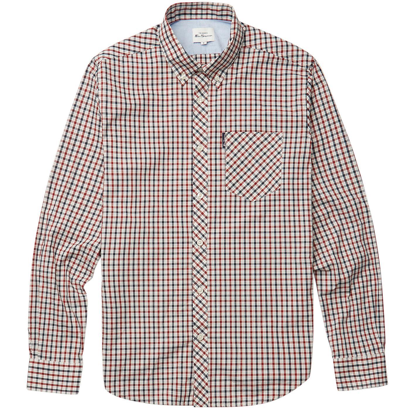BEN SHERMAN Mod Signature House Check Shirt (Red)
