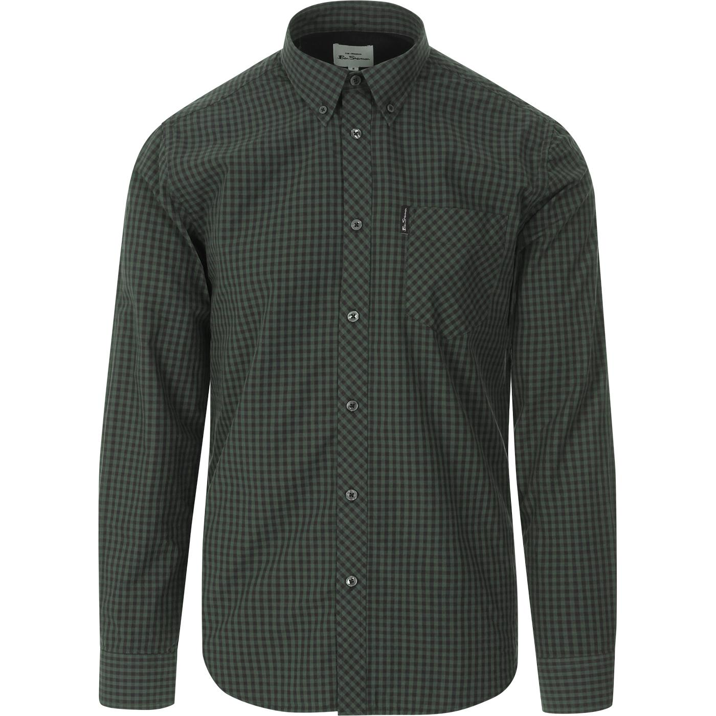 BEN SHERMAN Signature Long Sleeve Gingham Shirt LG