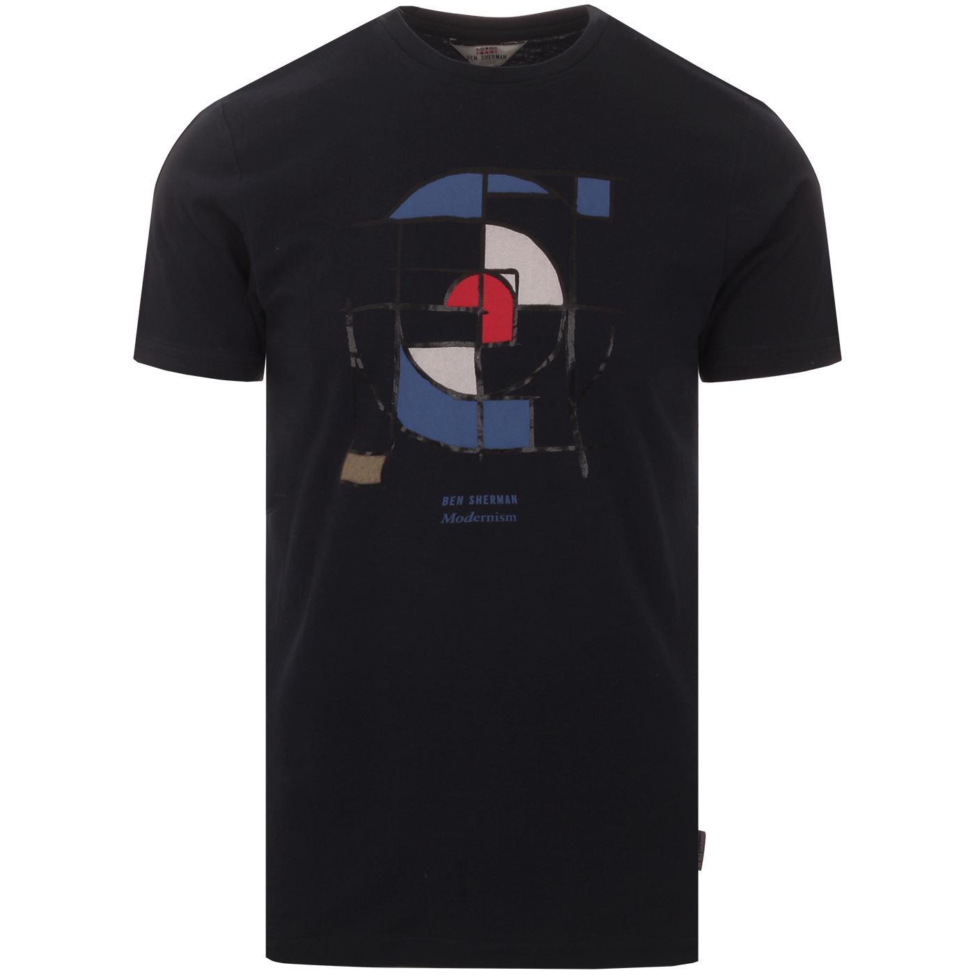 Mondrian Mod Target BEN SHERMAN Retro T-shirt (N)