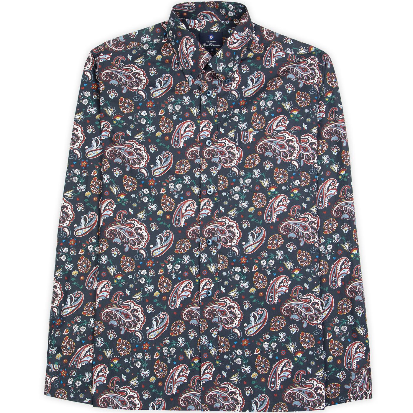 BEN SHERMAN 60s Mod Psychedelic Paisley Shirt (DN)
